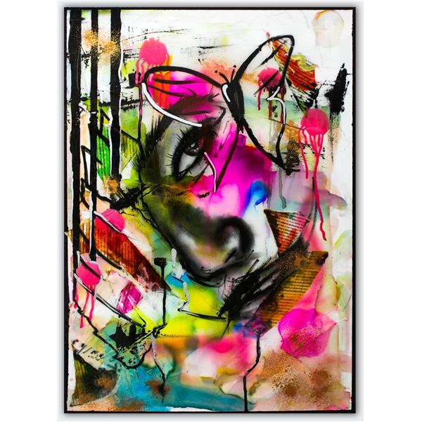 """Hen Maman- Original Painting with Alcohol ink, acrylic, and epoxy rasin on Canvas """"Olivia"""""""