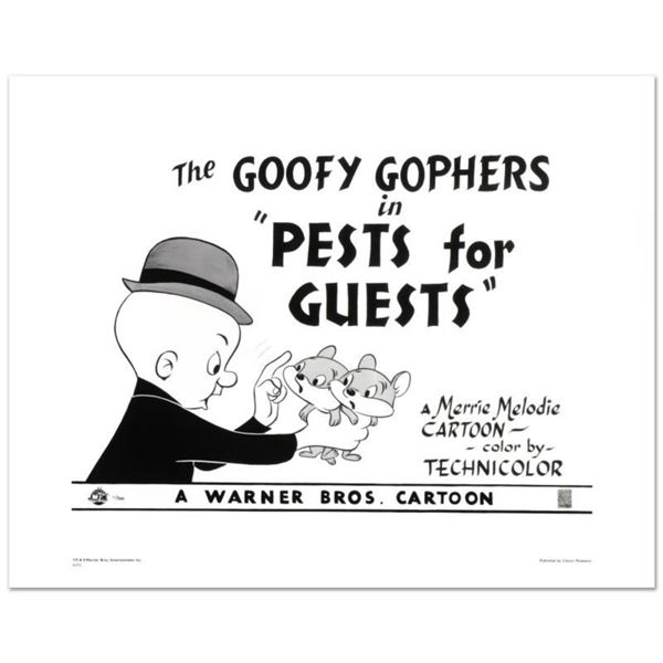 """""""Goofy Gophers"""" Limited Edition Giclee from Warner Bros., Numbered with Hologram Seal and Certificat"""