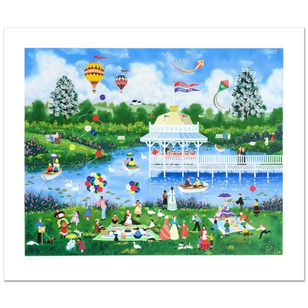 """Jane Wooster Scott, """"Mother's Day Picnic"""" Hand Signed Limited Edition Serigraph with Letter of Authe"""
