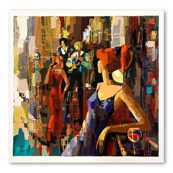 """Nelly Panto, """"Waiting for You"""" Hand Signed Limited Edition Serigraph on Paper with Letter of Authent"""