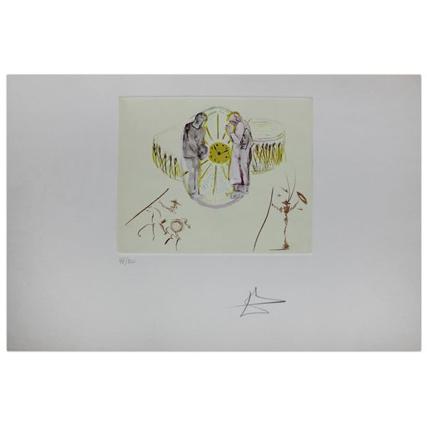 """Salvador Dali- Lithograph with original collages with original etchings """"One's Identity"""""""