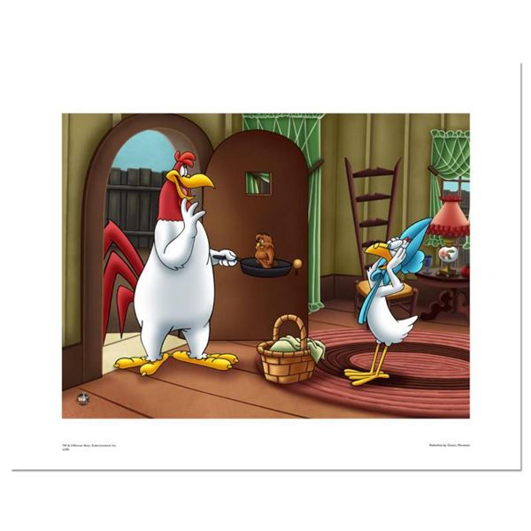 """""""Foghorn Serving Henry"""" Numbered Limited Edition Giclee with Certificate of Authenticity."""