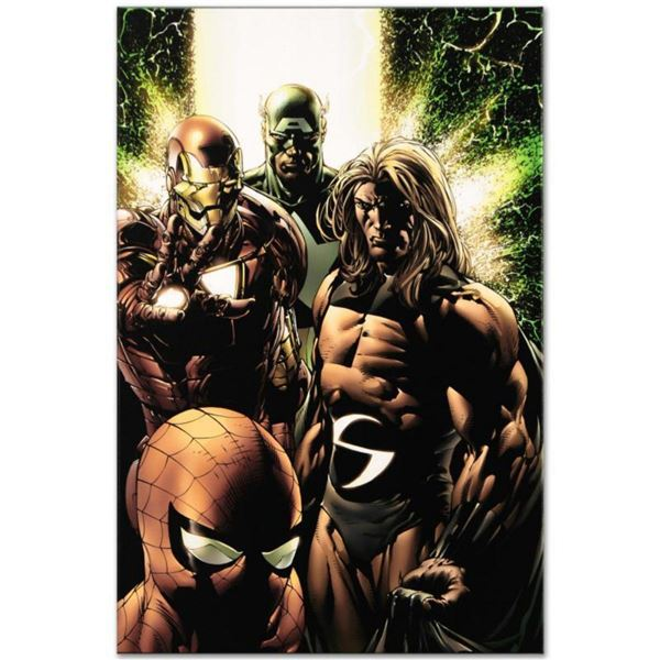 """Marvel Comics """"New Avengers #8"""" Numbered Limited Edition Giclee on Canvas by Steve McNiven with COA."""
