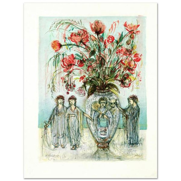 """""""Ancient Wisdom"""" Limited Edition Lithograph by Edna Hibel (1917-2014), Numbered and Hand Signed with"""