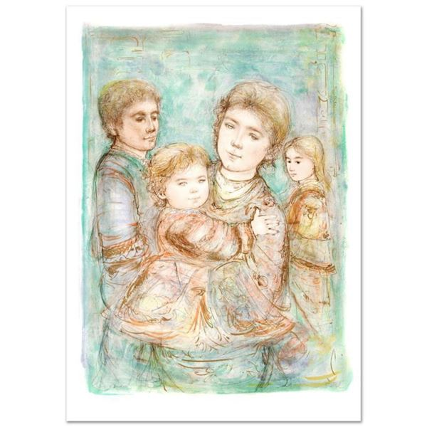"""""""Portrait of a Family"""" Limited Edition Lithograph (28"""" x 40.5"""") by Edna Hibel (1917-2014), Numbered"""