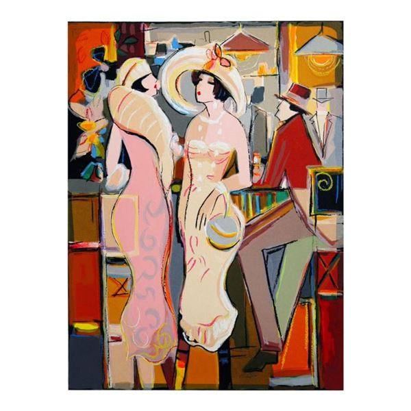 """Isaac Maimon, """"Dames Elegantes"""" Limited Edition Serigraph, Numbered and Hand Signed with Letter of A"""