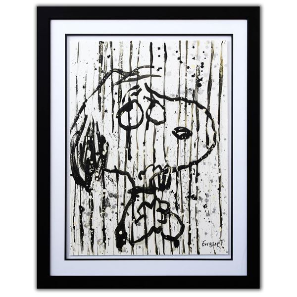 """Tom Everhart- Hand Pulled Original Lithograph """"Dancing in the Rain"""""""