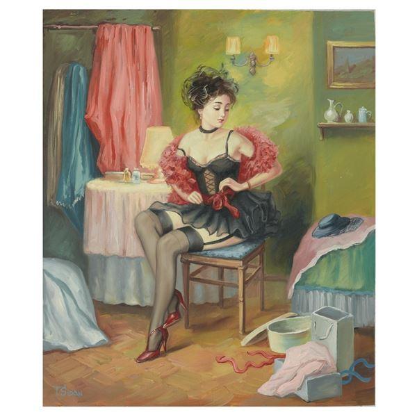 "Taras Sidan- Original Giclee on Canvas ""Rebecca"""
