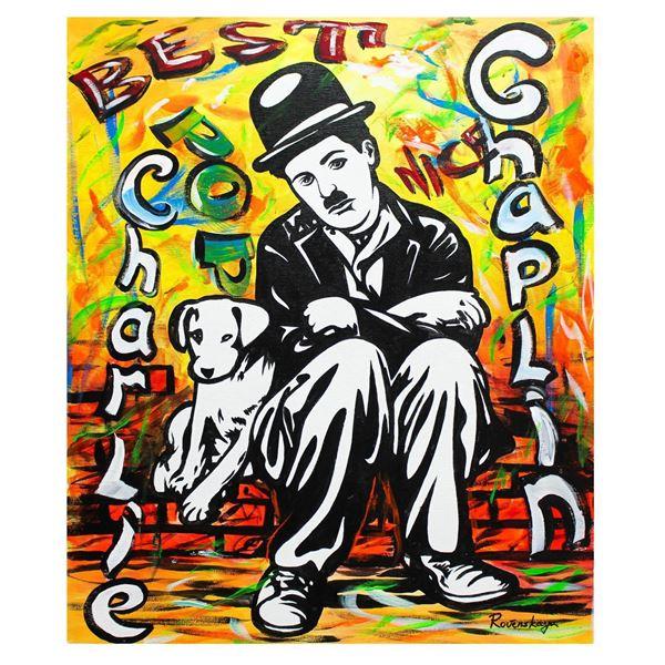 "Nastya Rovenskaya- Original Oil on Canvas ""A Dog's Life"""
