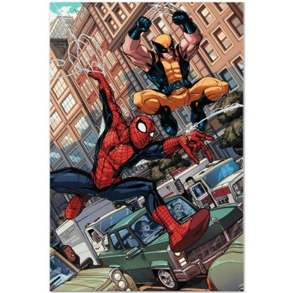 """Marvel Comics """"Astonishing Spider-Man & Wolverine #1"""" Numbered Limited Edition Giclee on Canvas by N"""
