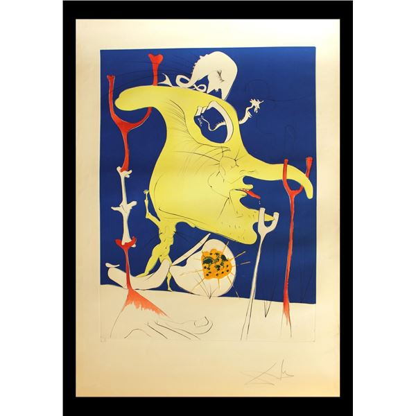 "Salvador Dali- Original Engravings with Lithographic Color ""Le dernier venu de la derniere planete """