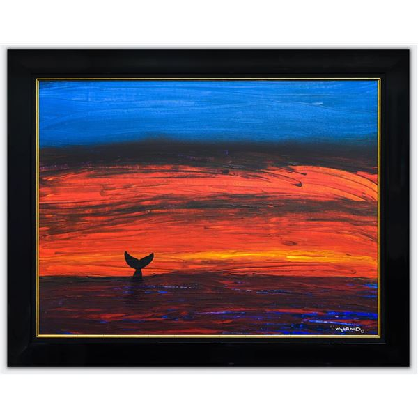 """Wyland- Original Painting on Canvas """"Whale Tale"""""""