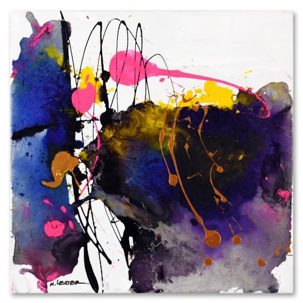 Moshe Leider, Original Mixed Media Painting on Canvas, Hand Signed with Letter of Authenticity.