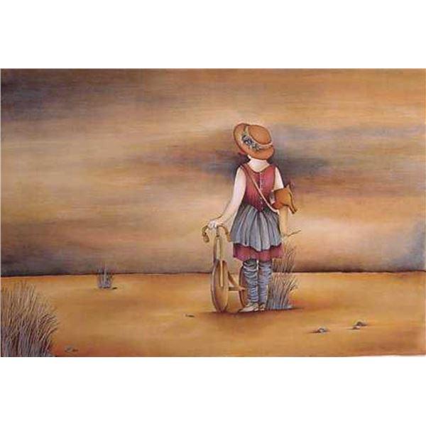 "Haya Ran- Original Serigraph ""Our Lost Childhood Days"""