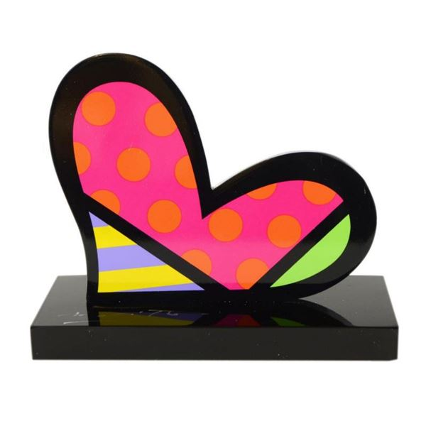 """Romero Britto""""For You"""" Hand Signed Limited Edition Sculpture; Authenticated."""