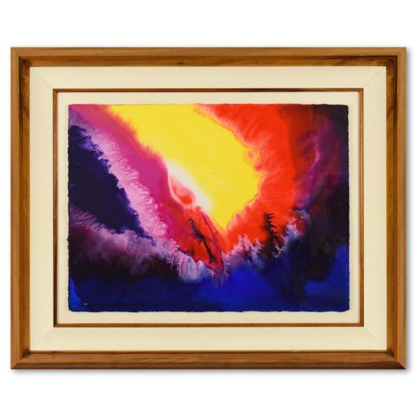 """Wyland, """"Warmth Of The Sea"""" Framed Original Watercolor Painting Hand Signed with Letter of Authentic"""