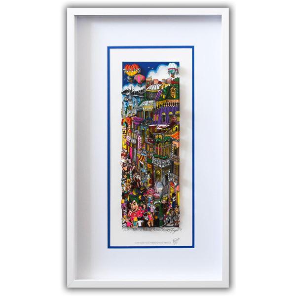 "Charles Fazzino- 3D Construction Silkscreen Serigraph ""Return, Rebuild, ReNew Orleans"""