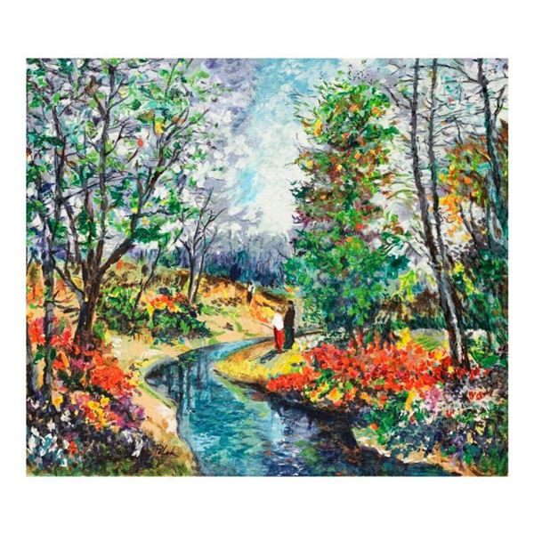 """Dimitri Polak (1922-2008), """"Autumn Stream"""" Hand Signed Limited Edition Serigraph on Canvas with Lett"""