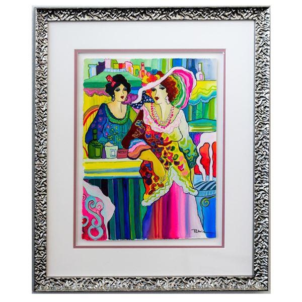 "Patricia Govezensky- Original Watercolor ""Elsa And Oceane"""