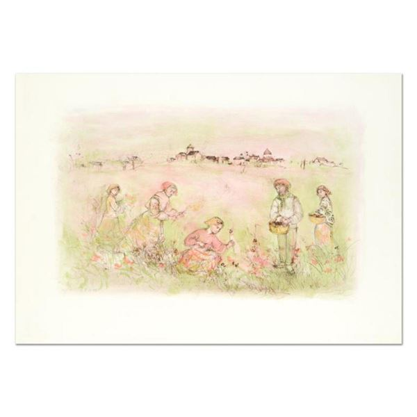 """Edna Hibel (1917-2014), """"Tuscan Fields"""" Limited Edition Lithograph on Rice Paper, Numbered and Hand"""