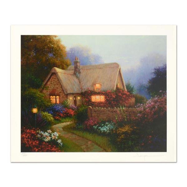 """Sergon, """"Bougainvillea Cottage"""" Limited Edition, Numbered and Hand Signed with LOA."""