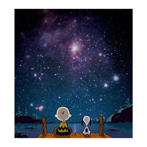 """Peanuts, """"Stars"""" Hand Numbered Canvas (40""""x44"""") Limited Edition Fine Art Print with Certificate of A"""