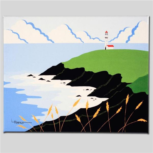 """""""Fisherman's Lighthouse"""" Limited Edition Giclee on Canvas by Larissa Holt, Numbered and Signed. This"""