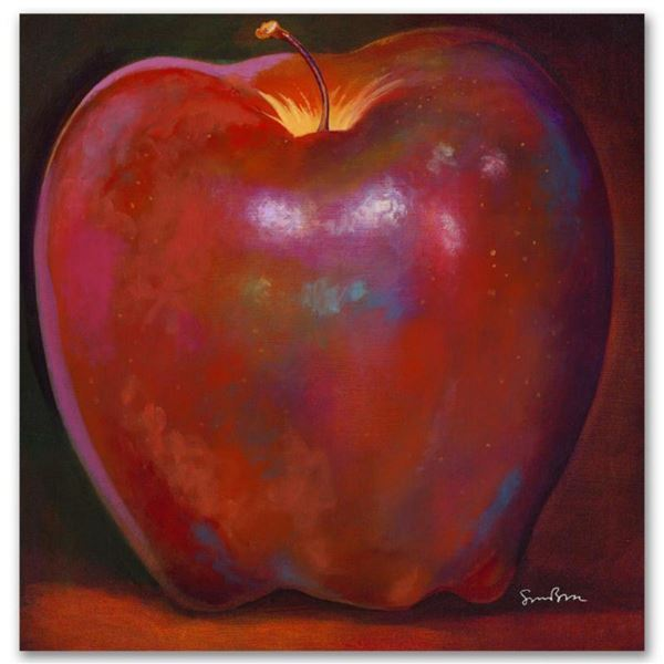 """""""Apple Wood Reflections"""" Limited Edition Giclee on Canvas by Simon Bull, Numbered and Signed. This p"""