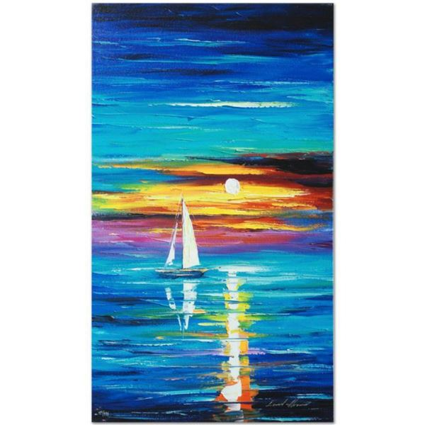 """Leonid Afremov (1955-2019) """"Reflection"""" Limited Edition Giclee on Canvas, Numbered and Signed. This"""