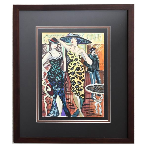 "Patricia Govezensky- Original Watercolor ""Alexia & Aline"""