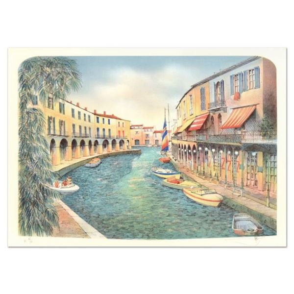 """Rolf Rafflewski, """"Grimaud"""" Limited Edition Lithograph, Numbered and Hand Signed."""