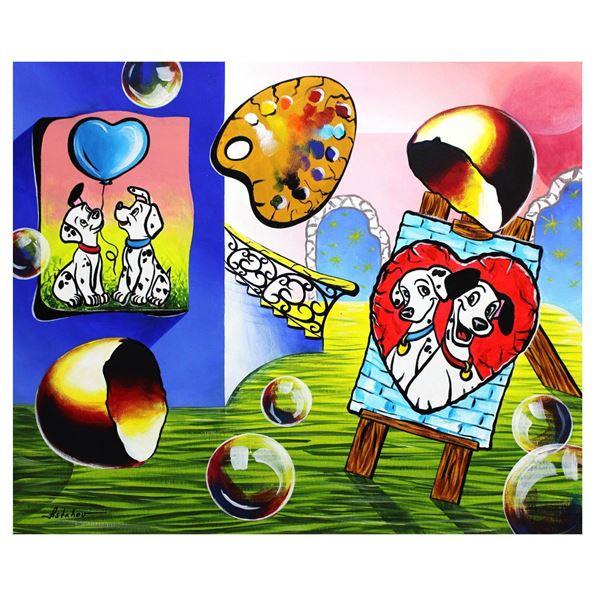 "Alexander Astahov- Original Oil on Canvas ""Love Dalmatian"""