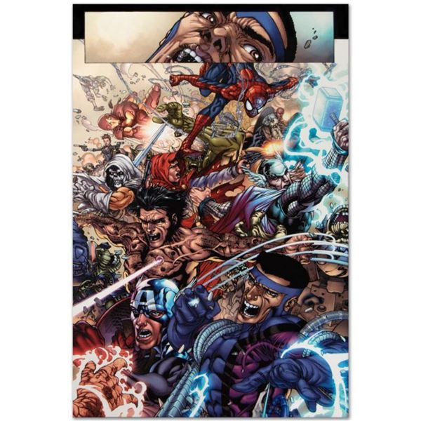 """Marvel Comics """"Avengers: The Initiative #19"""" Numbered Limited Edition Giclee on Canvas by Harvey Tol"""