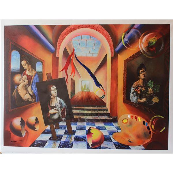 "Alexander Astahov- Original Giclee on Canvas ""The Artist"""
