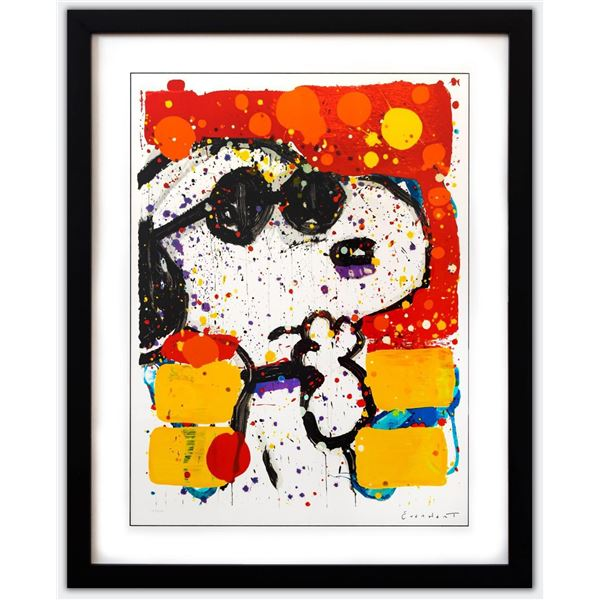 """Tom Everhart- Hand Pulled Original Lithograph """"Cool & Intelligent"""""""