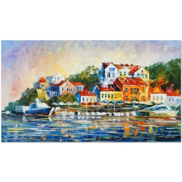 """Leonid Afremov (1955-2019) """"Mediterranean Noon"""" Limited Edition Giclee on Canvas, Numbered and Signe"""