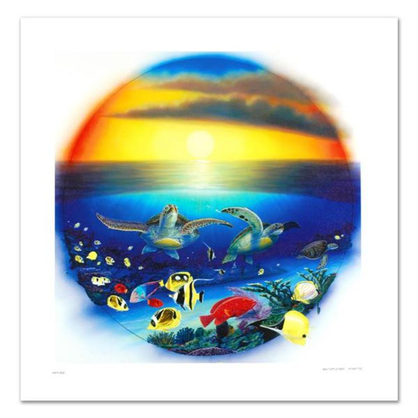 """""""Sea Turtle Reef"""" Limited Edition Giclee on Canvas by Renowned Artist Wyland, Numbered and Hand Sign"""