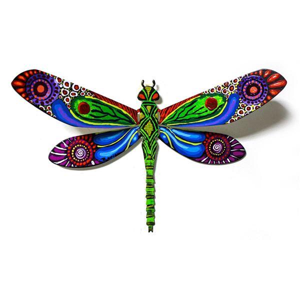 "Patricia Govezensky- Original Painting on Cutout Steel ""Dragonfly XCIV"""