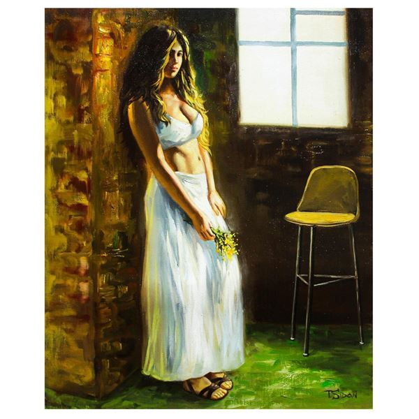 "Taras Sidan- Original Oil on Canvas ""White Dress"""