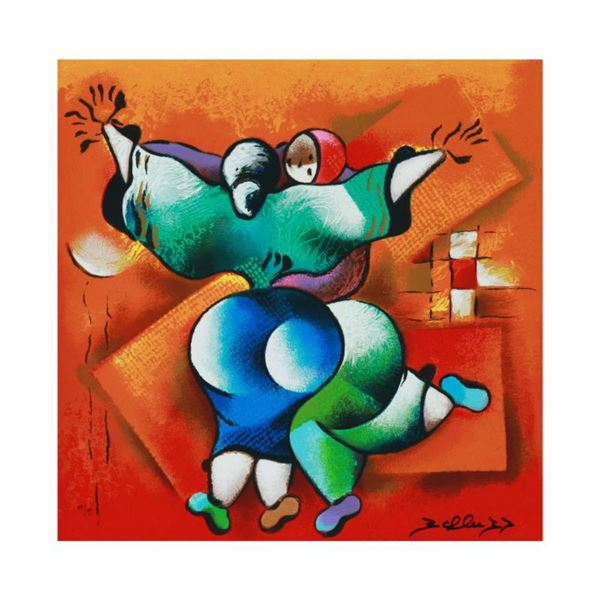 """David Schluss, """"Love Dance"""" Limited Edition Serigraph, Numbered and Hand Signed with Letter of Authe"""