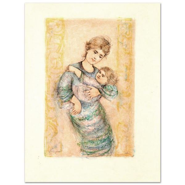 """""""Fair Alice and Baby"""" Limited Edition Lithograph by Edna Hibel (1917-2014), Numbered and Hand Signed"""