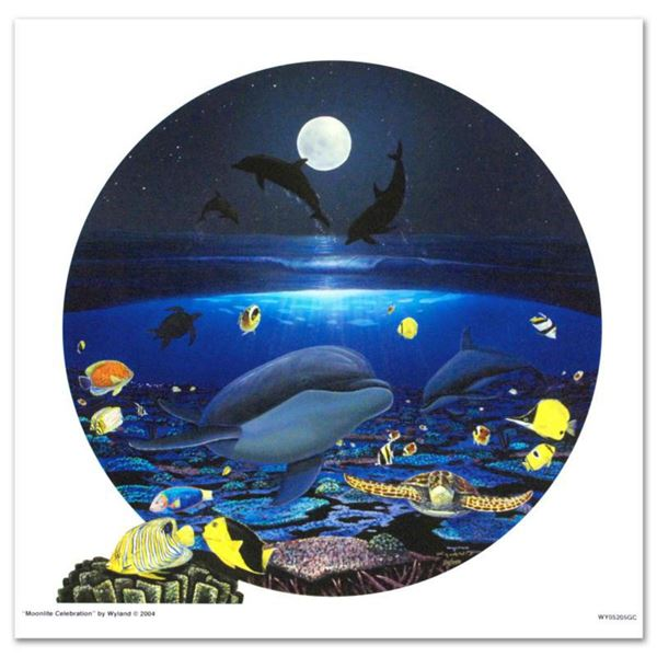 """""""Moonlight Celebration"""" Limited Edition Giclee on Canvas by renowned artist WYLAND, Numbered and Han"""