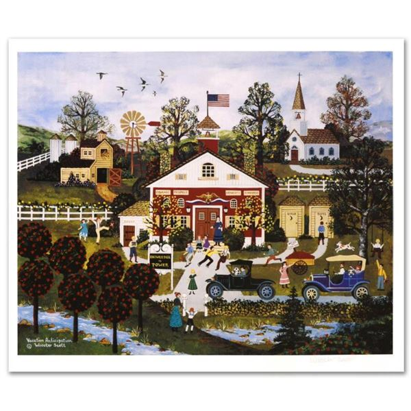 """Jane Wooster Scott, """"Vacation Anticipation"""" Hand Signed Limited Edition Lithograph with Letter of Au"""