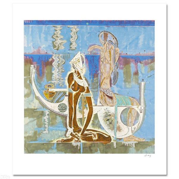 """""""Rhyme of Sea"""" Limited Edition Serigraph (34"""" x 38"""") by Renowned Artist Lu Hong, Numbered and Hand S"""