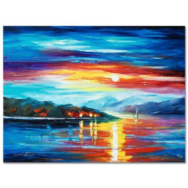 """Leonid Afremov (1955-2019) """"Never Alone"""" Limited Edition Giclee on Canvas, Numbered and Signed. This"""