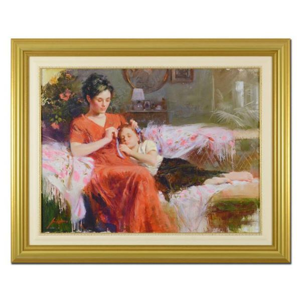"""Pino (1939-2010)- Hand Embellished Giclee on Canvas """"Sweet Love"""""""