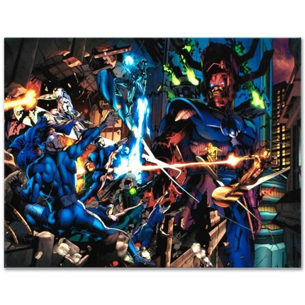 """Marvel Comics """"Fantastic Four #571"""" Numbered Limited Edition Giclee on Canvas by Dale Eaglesham with"""