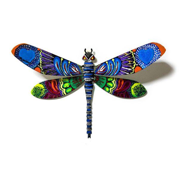"Patricia Govezensky- Original Painting on Cutout Steel ""Dragonfly CXXVII"""