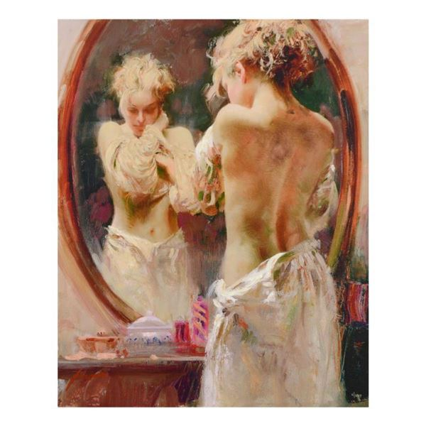 """Pino (1939-2010)- Hand Embellished Giclee on Canvas """"Contemplation"""""""