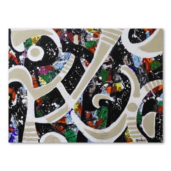 """Jenik Cook, Original Acrylic Painting on Gallery Wrapped Canvas (42"""" x 32""""), Hand Singed with Letter"""